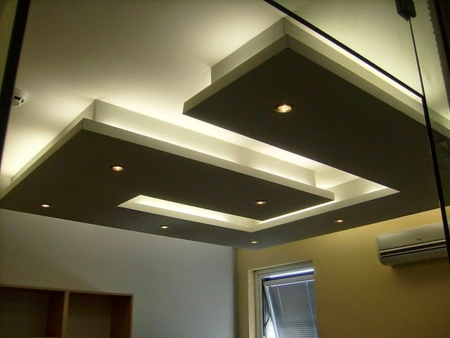 Attractive Down Ceiling Designs Drawing Room #9: Gypsum-board-false-ceiling-designs-for-living-room-modern-LED-ceiling-lights.jpg