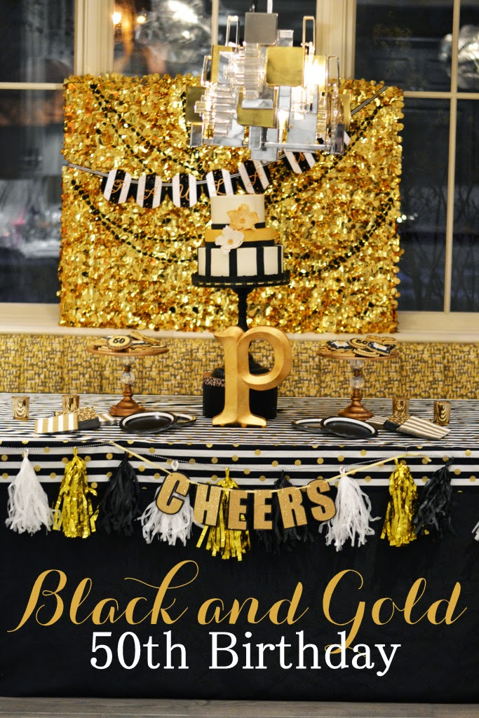 GreyGrey Designs Black And Gold Glamorous 50 Birthday