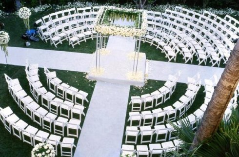 Circular Seating Wedding Ceremony