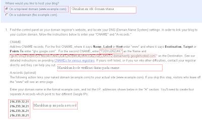 Cara mengganti alamat blog menjadi .com