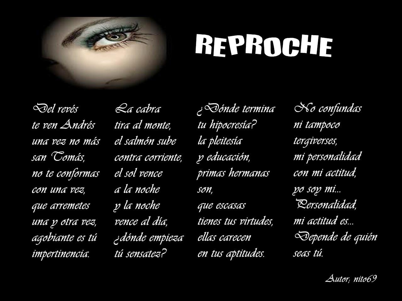 REPROCHE
