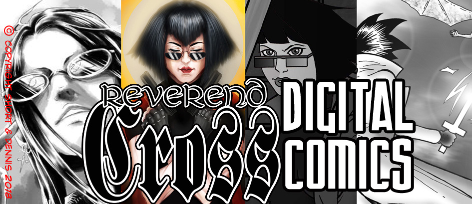LINK to REVEREND CROSS digital KINDLE comics store!