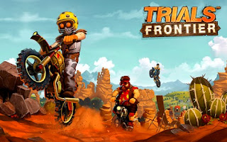 Screenshots of the Trials Frontier for Android tablet, phone.