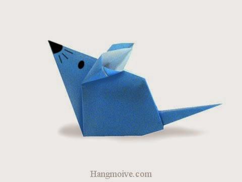 Cách gấp, xếp con Chuột nhắt bằng giấy origami - Video hướng dẫn xếp hình