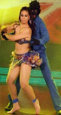 Foto de Jean Paul Santa bailando Merengue con Carmen Varillas