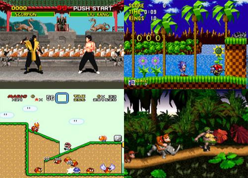 Mortal Kombat, Sonic, Super Mario World, Donkey Kong Country