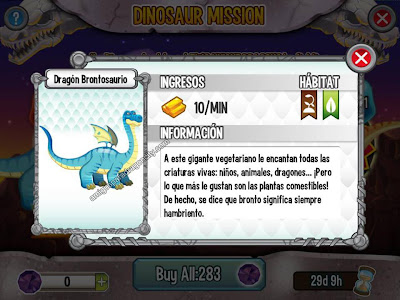 imagen del dragon brontosaurio de dragon city ios