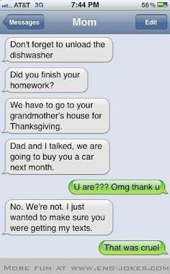 爸媽下個月要買車給你