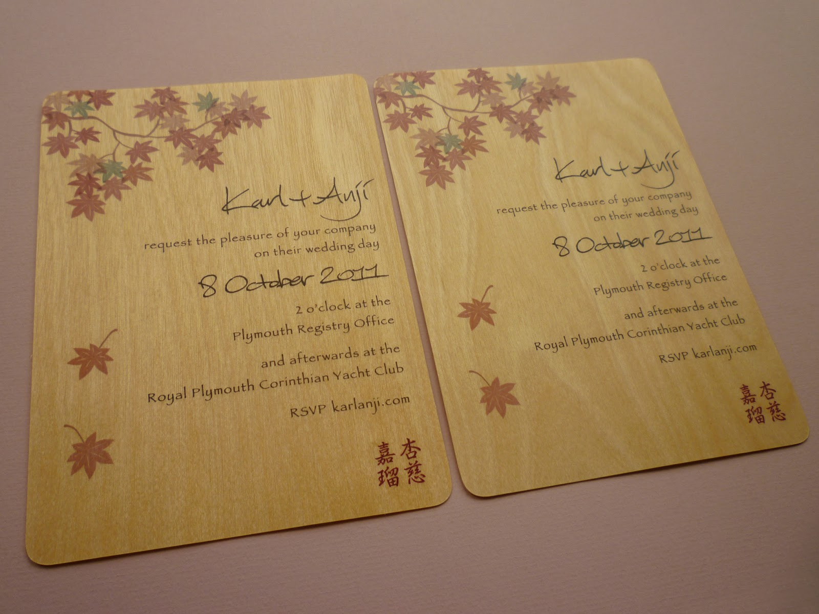 starking crafty and party*: one year on.. our wedding invitations