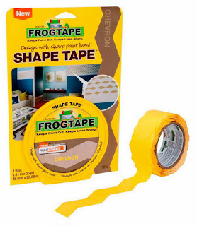 chevron, painter's tape, frog tape