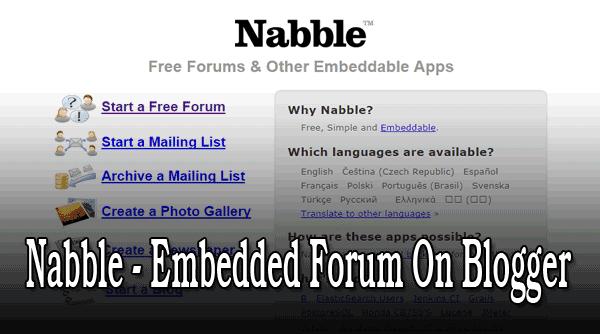 Nabble Embedded Forum