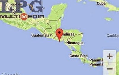 Epicentro sismo en El Salvador, 23 de Octubre 2014