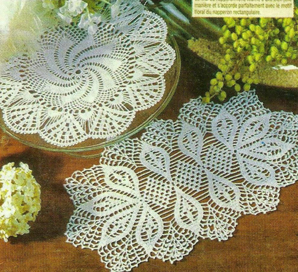Carpetas tejidas con ganchillo con patrones