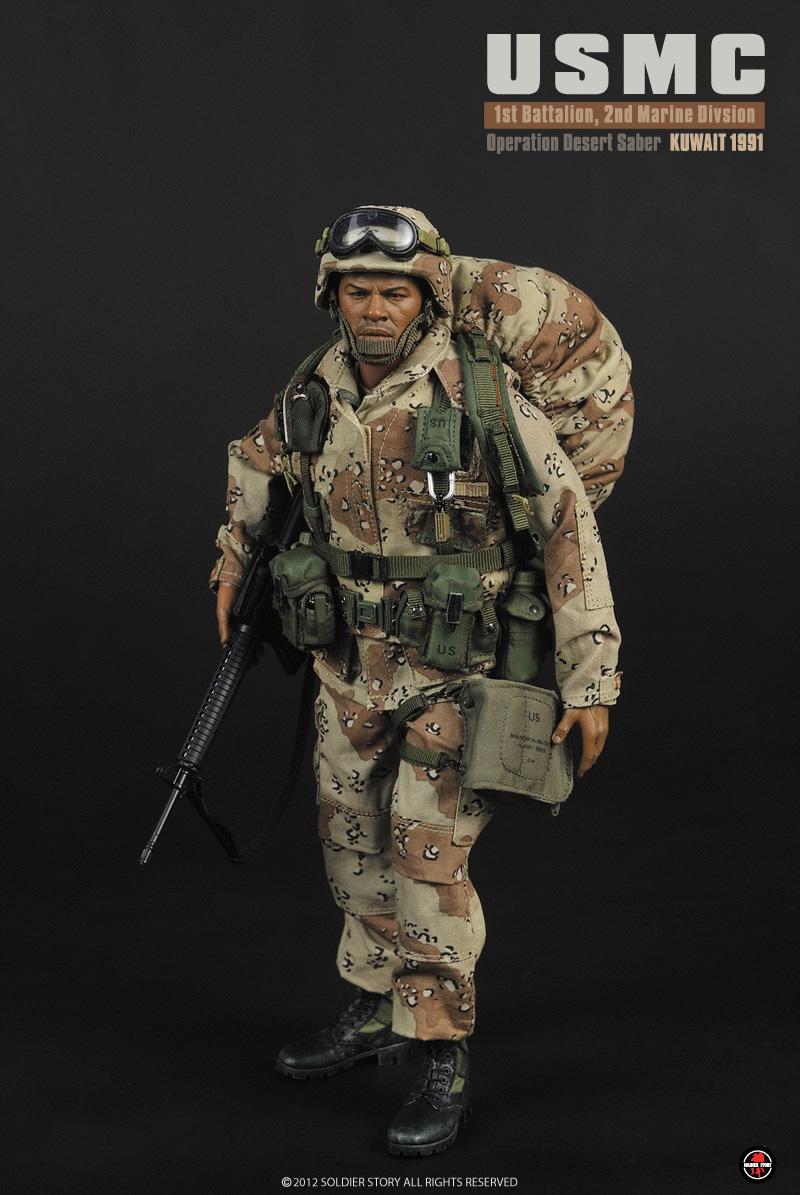 USMC Marine Desert Saber Kuwait 1991 Strobe Light Soldier Story 1//6th Scale
