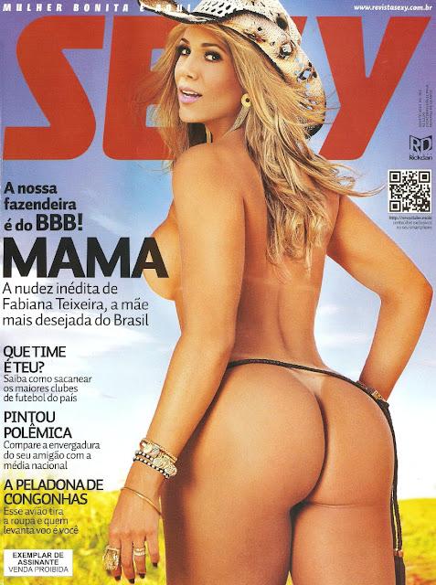 Confira as fotos da  mãe maisdesejada do Big Brother Brasil 12, Fabiana Teixeira , capa da Sexy de agosto de 2012!