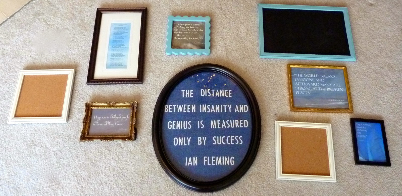 The Designing Doc: Mixed Frame Wall Collage