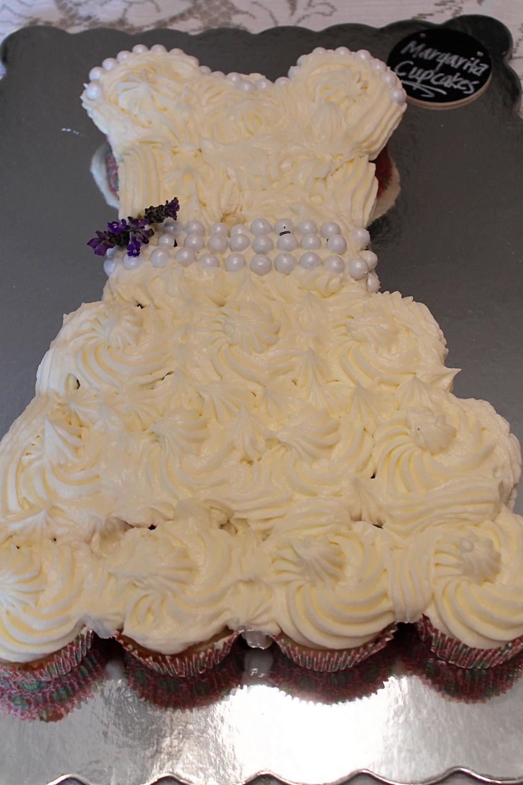 Cupcakes en forma de vestido de novia