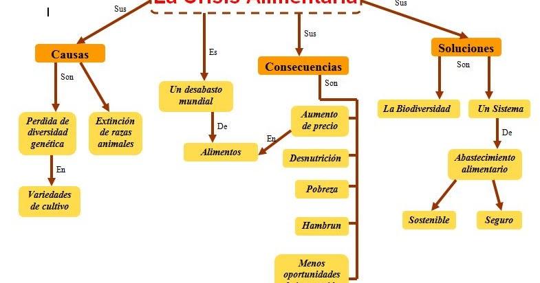 Mapa conceptual de la Crisis alimentaria   MANUAL Y PRACTICO