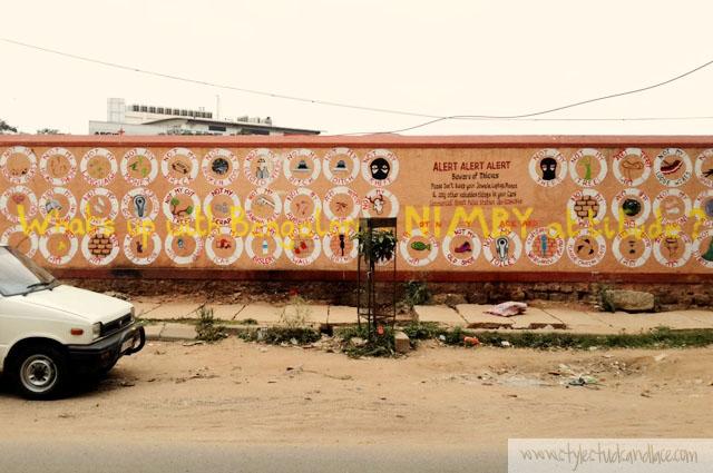 NIMBY street art by Srishti School of Art, Design and Technology