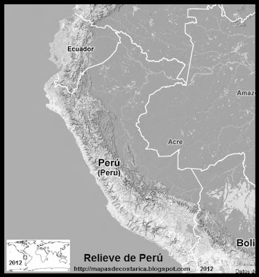 Mapa de Relieve de PERU, Google Maps