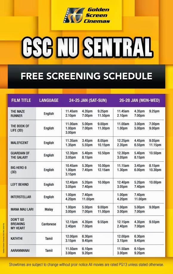 I Love Freebies Malaysia Freebies Free Gsc Movie Passes Giveaway