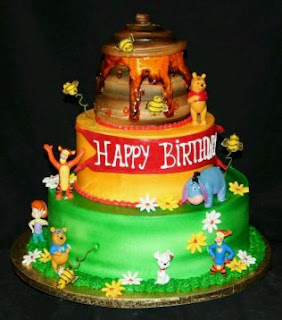 Pooh Bear cakes for children parties
