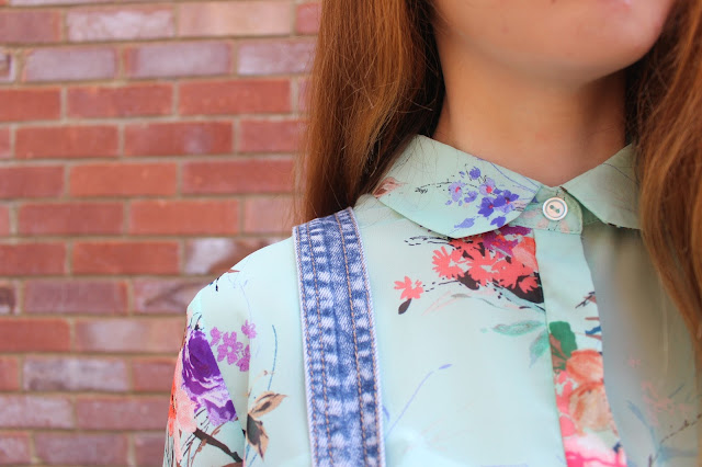 How I Style | Dungarees Primark blouse flowers girly