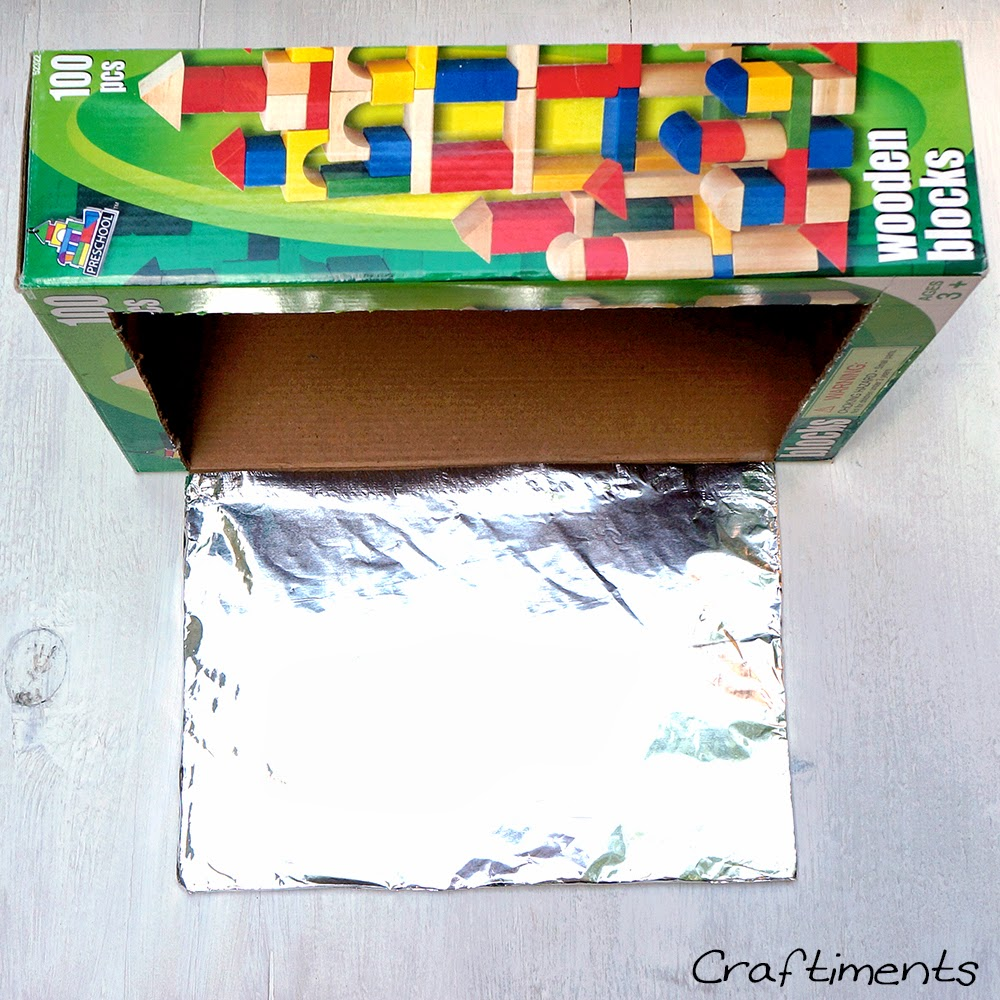 wrap reflector flap with aluminum foil