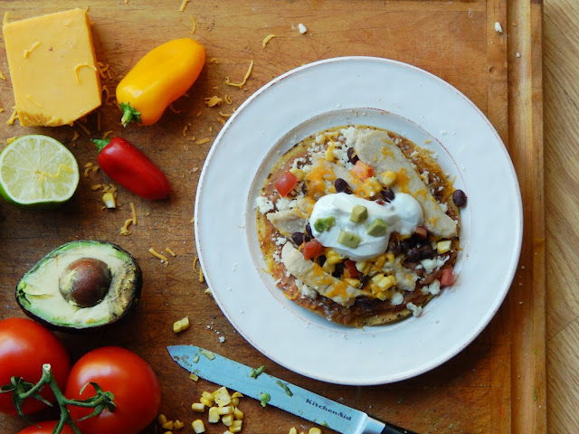 Southwest Inspired Chicken Tostadas - Melissa Kaylene