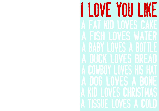 I love you like printable boy valentine