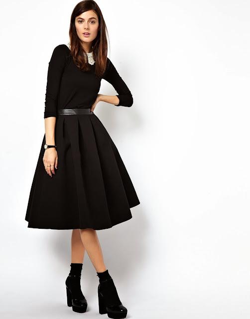full black skirt