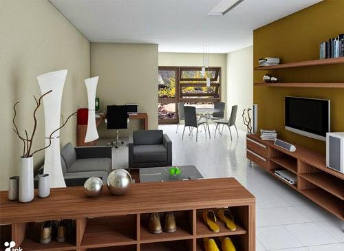 dekorasi ruang tamu ukuran kecil rumah minimalis