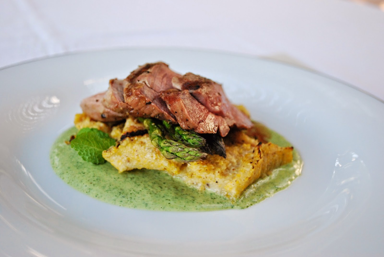 Grilled Lamb with Roasted Cauliflower Polenta: Impress your family and friends on Easter weekend with this simple-to-make, yet impressive-to-serve recipe. Serve with additional roasted veggies, such as a asparagus, to show-off springtime flavor.
