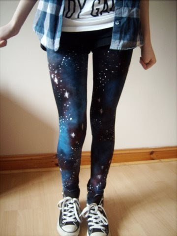How To Make Galaxy Leggings With Acrylic Paint
