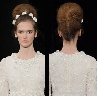 Classic updos hairstyles for spring wedding at jenny packham jpeg