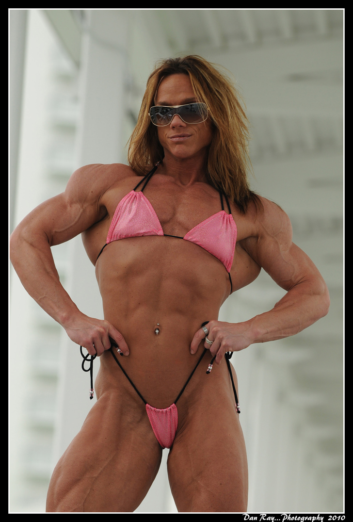 Sheila Bleck Flexes Her Muscular Physique In A Bikini