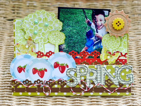 "Step Up ""Spring"" Table Deco Card"