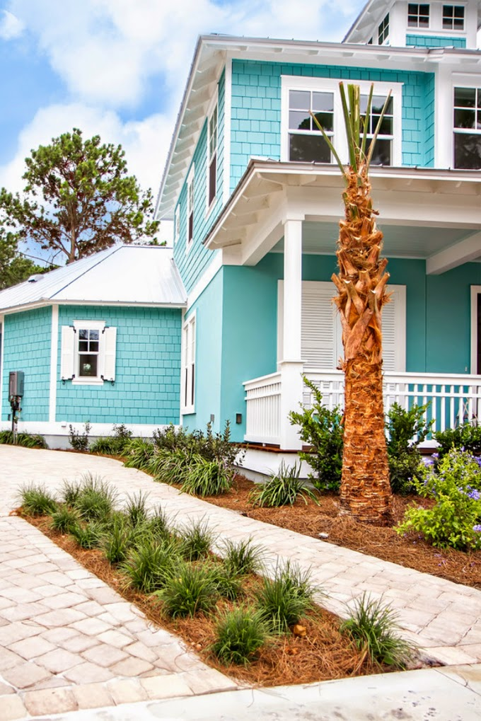 House of turquoise glenn layton homes for Florida house paint colors