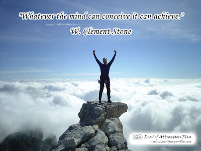 Free Law of Attraction Wallpaper with Quote by Clement Stone
