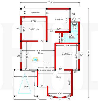 Planos de casas peque as plano de casa de 100 metros for Piso 60 metros cuadrados