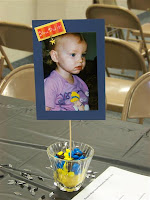 Graduation photo table centerpiece