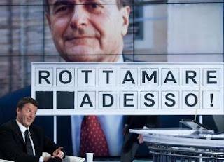 renzi rottamare Renzi silura la linea para golpista di Bersani