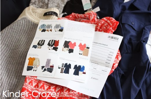 stitch fix outfits with styling card