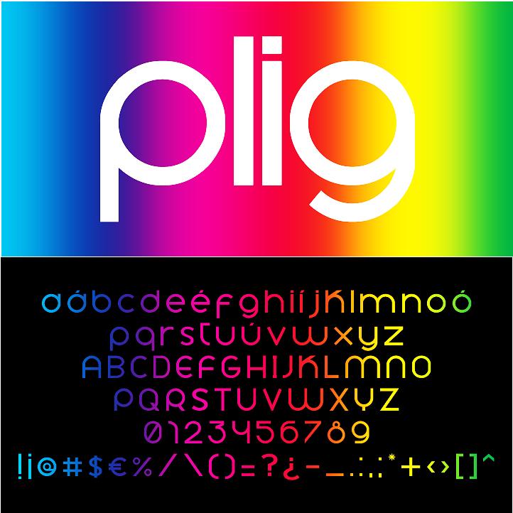 Tipografia Plig regular