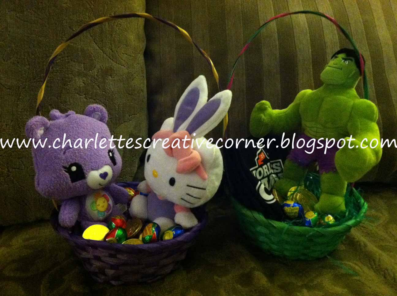 Charlettes creative corner easter baskets weve already had a couple of easter egg hunts for the kids and today we will be giving my niece and nephew their easter egg baskets negle Images