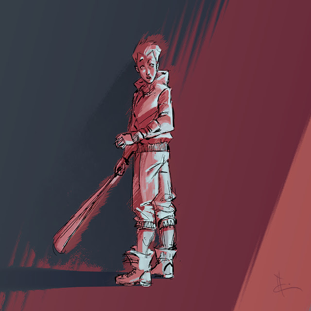 speed painting d'un baseballer