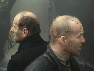 Writer (played by Anatoliy Solonitsyn), Stalker (played by Aleksandr Kaydanovskiy), Stalker by Andrei Tarkovsky, zone