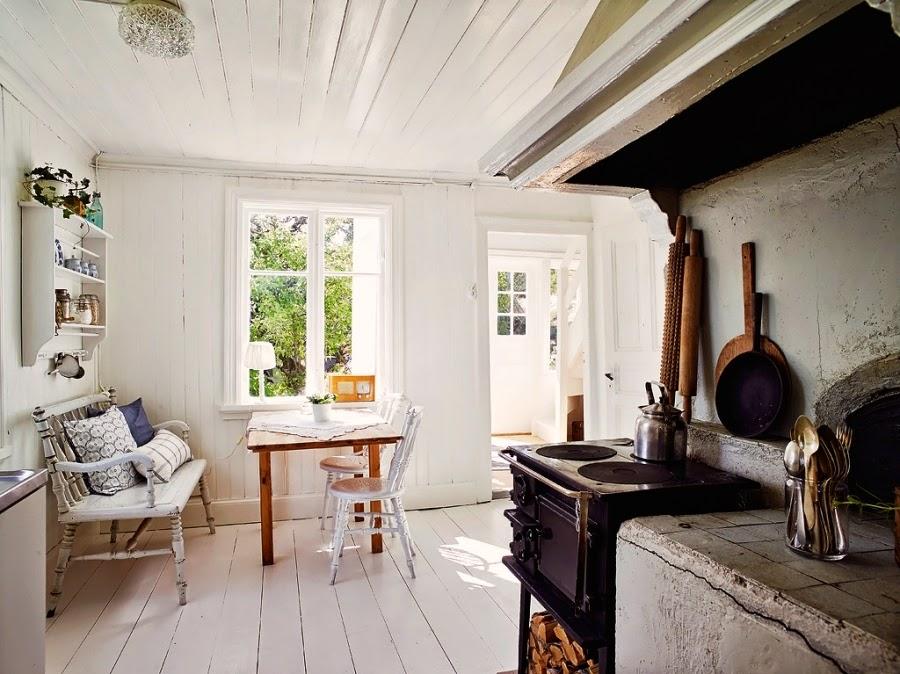 dom, wystrój wnętrz, wnętrza, home decor, styl skandynawski, białe wnętrza, shabby chic, sielska kuchnia, wiejska kuchnia