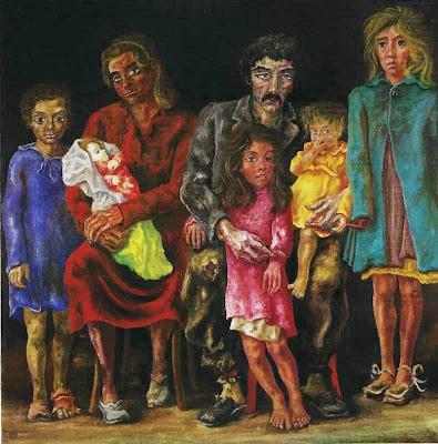 'La familia del peón', óleo del Maestro don Antonio Berni, tomado de trianarts.com