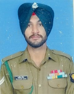 "Naik Balwinder Singh, SM of 22 Rashtriya Rifles (PUNJAB), awarded ""Shaurya Chakra"" for gallantry in Sopore"
